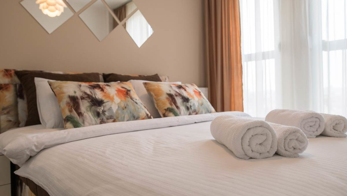 Apartman Bella bracni krevet u spavacoj sobi