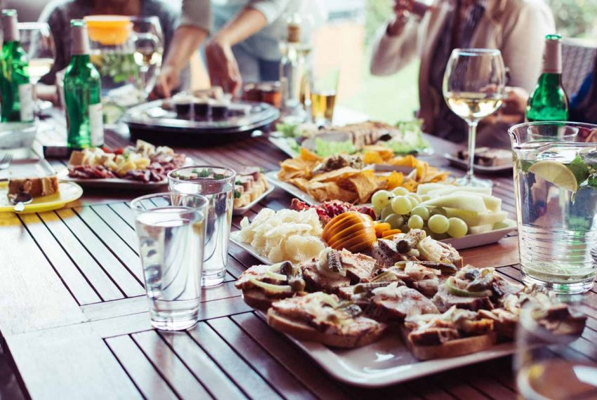 Food on a plate outdoors