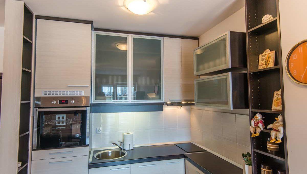 Apartment Simpatico gray kitchen